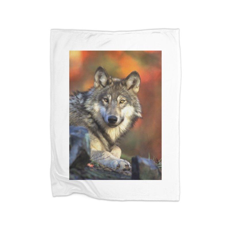 AUTUMN WOLF Home Blanket by Eddie Christian's Artist Shop