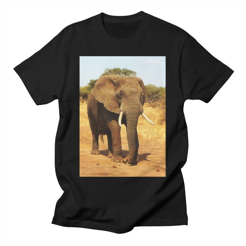 ELEPHANT WALK Men's T-Shirt by Eddie Christian's Artist Shop