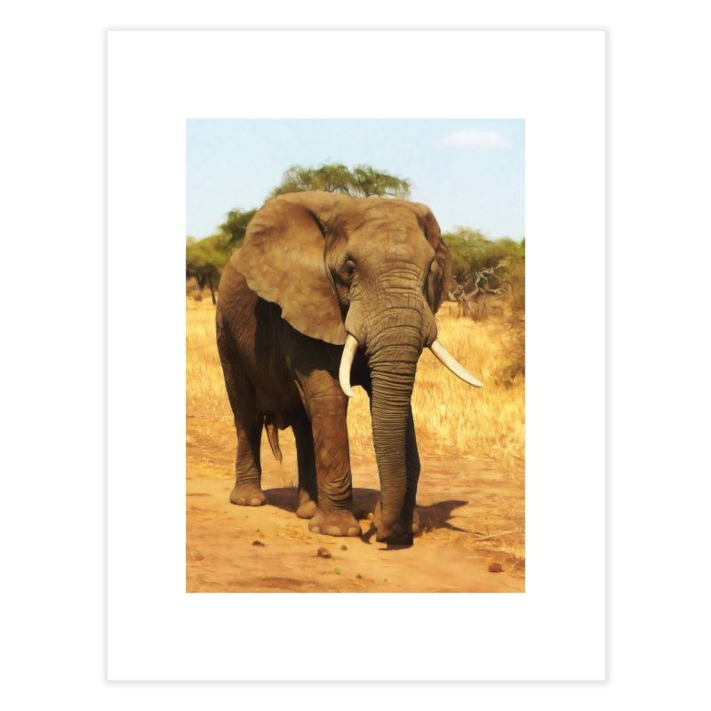 ELEPHANT WALK Home Fine Art Print by Eddie Christian's Artist Shop