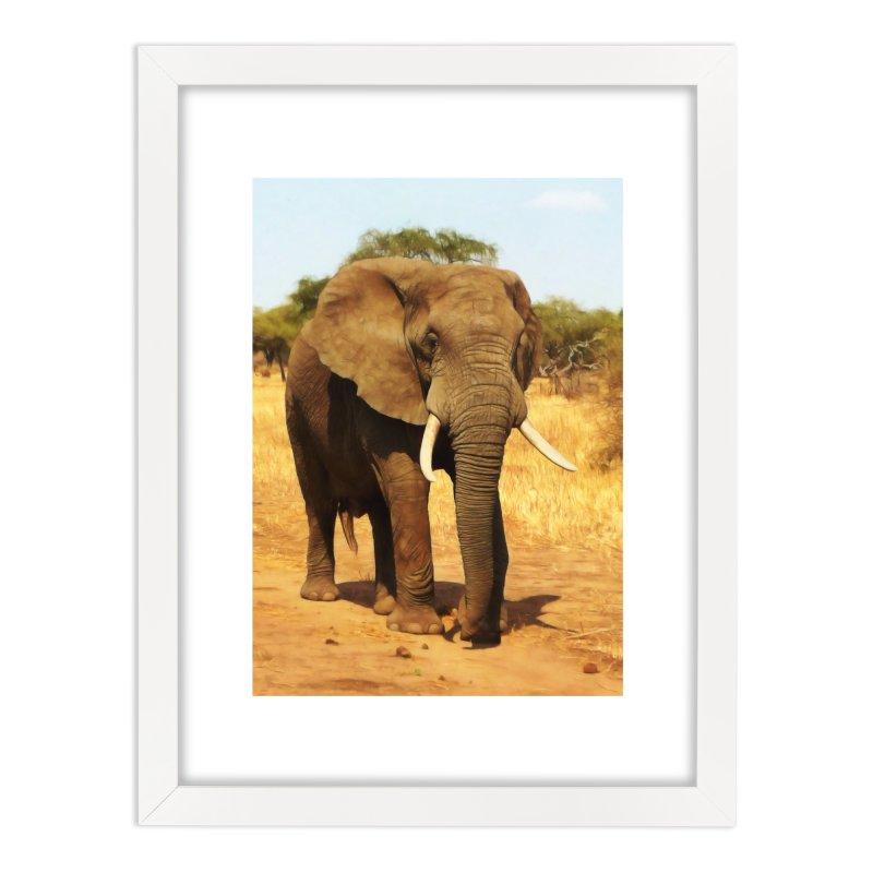 ELEPHANT WALK Home Framed Fine Art Print by Eddie Christian's Artist Shop