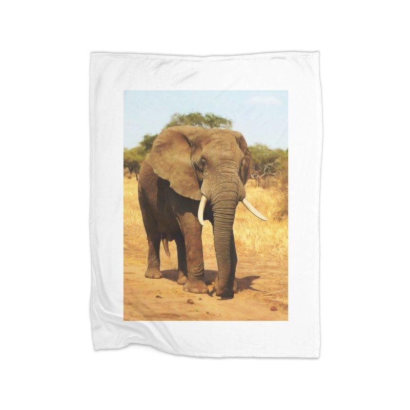 ELEPHANT WALK Home Blanket by Eddie Christian's Artist Shop