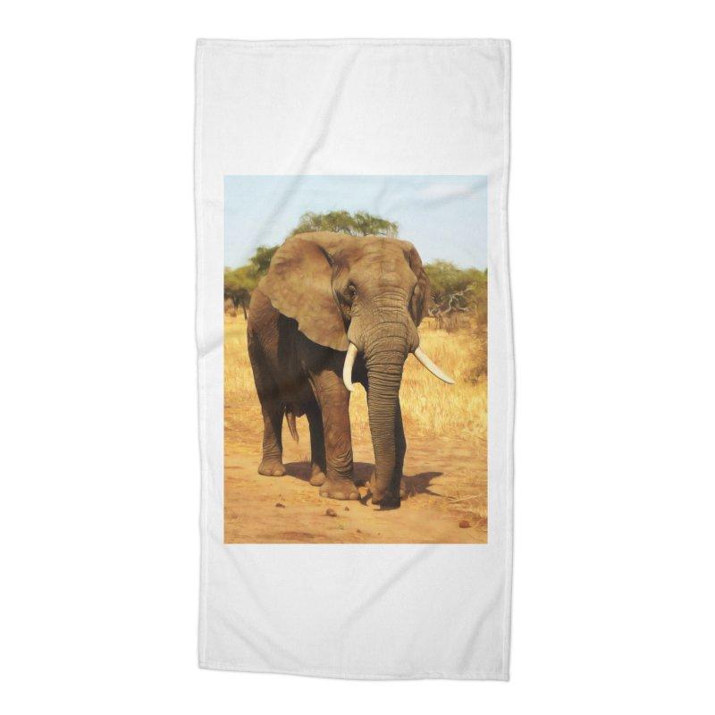 ELEPHANT WALK Accessories Beach Towel by Eddie Christian's Artist Shop