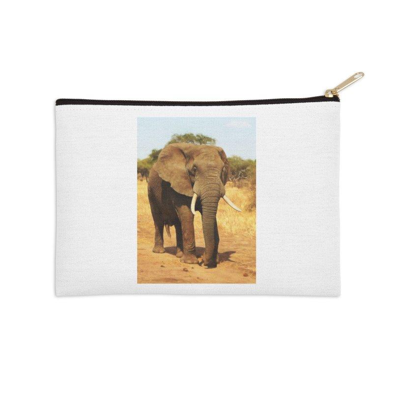 ELEPHANT WALK Accessories Zip Pouch by Eddie Christian's Artist Shop