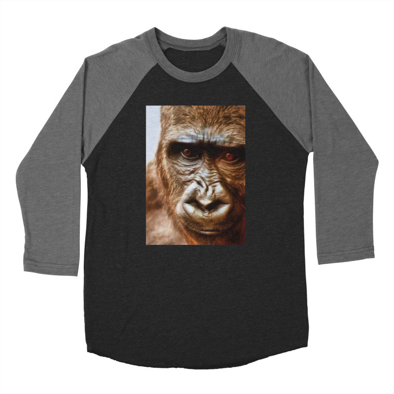 COMPASSION OF THE GORILLA Women's Longsleeve T-Shirt by Eddie Christian's Artist Shop