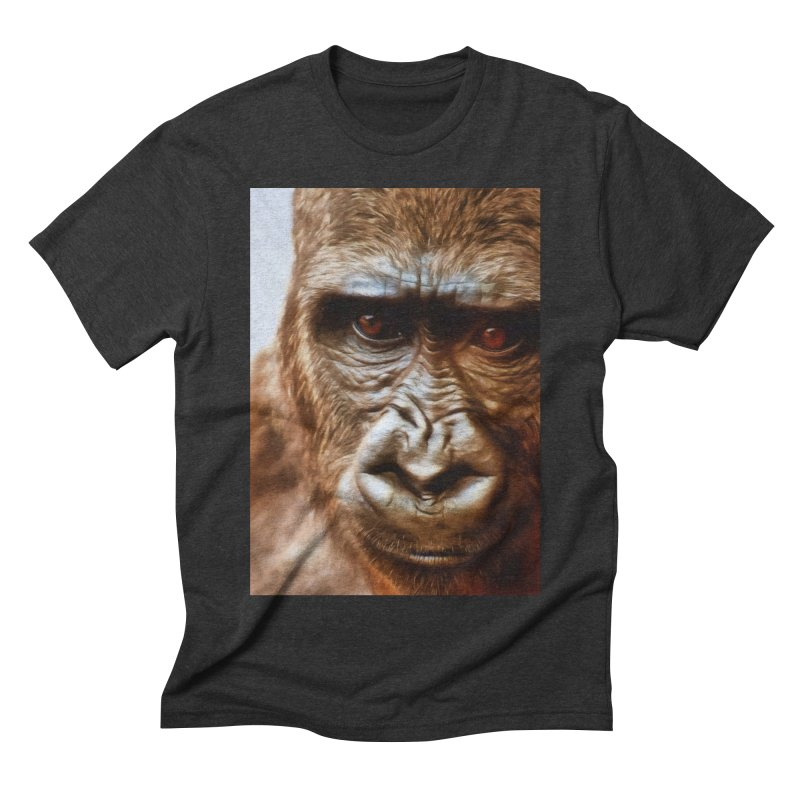 COMPASSION OF THE GORILLA Men's T-Shirt by Eddie Christian's Artist Shop