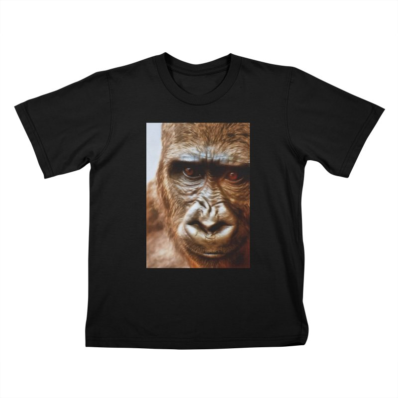 COMPASSION OF THE GORILLA Kids T-Shirt by Eddie Christian's Artist Shop