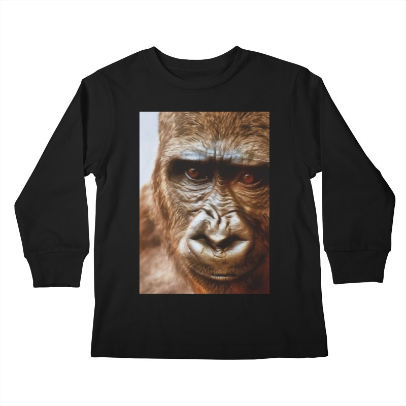 COMPASSION OF THE GORILLA Kids Longsleeve T-Shirt by Eddie Christian's Artist Shop