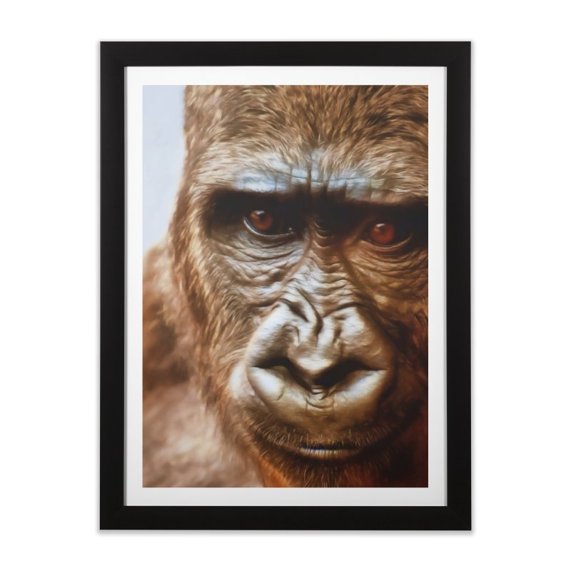 COMPASSION OF THE GORILLA Home Framed Fine Art Print by Eddie Christian's Artist Shop