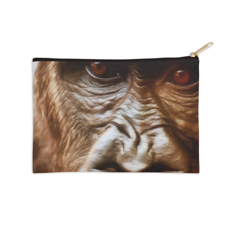 COMPASSION OF THE GORILLA Accessories Zip Pouch by Eddie Christian's Artist Shop