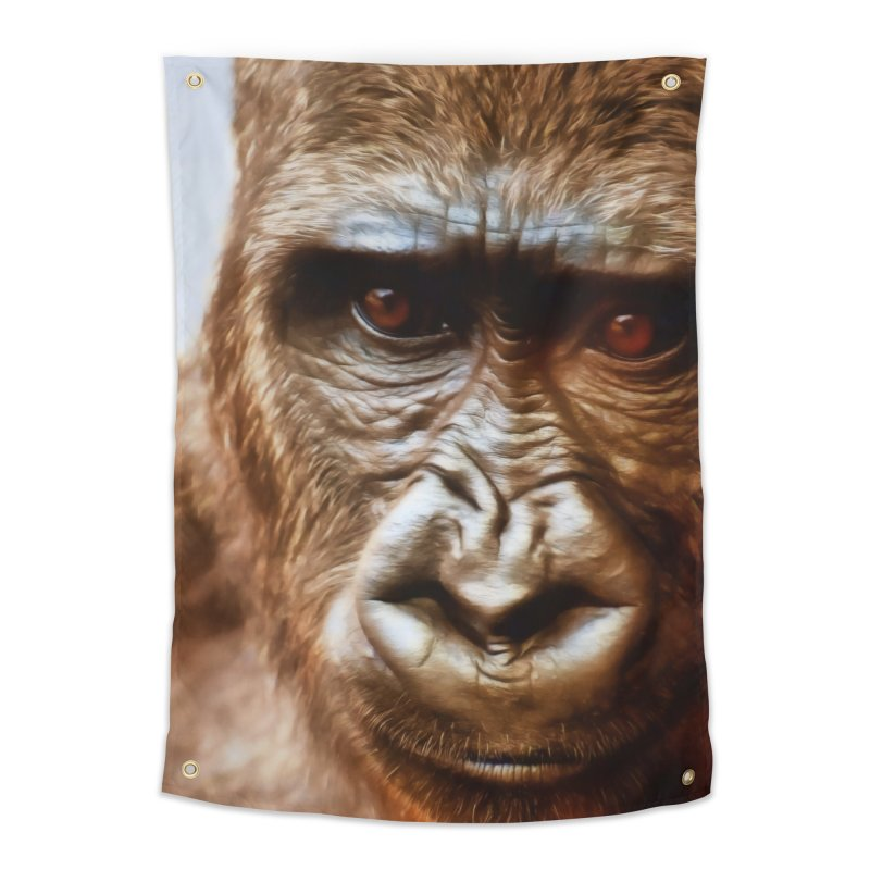 COMPASSION OF THE GORILLA Home Tapestry by Eddie Christian's Artist Shop