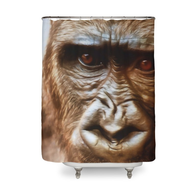 COMPASSION OF THE GORILLA Home Shower Curtain by Eddie Christian's Artist Shop
