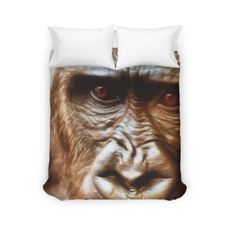 COMPASSION OF THE GORILLA Home Duvet by Eddie Christian's Artist Shop