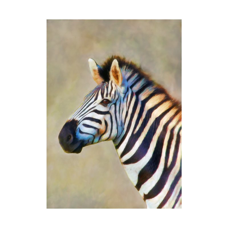 THE ZEBRA Kids T-Shirt by Eddie Christian's Artist Shop