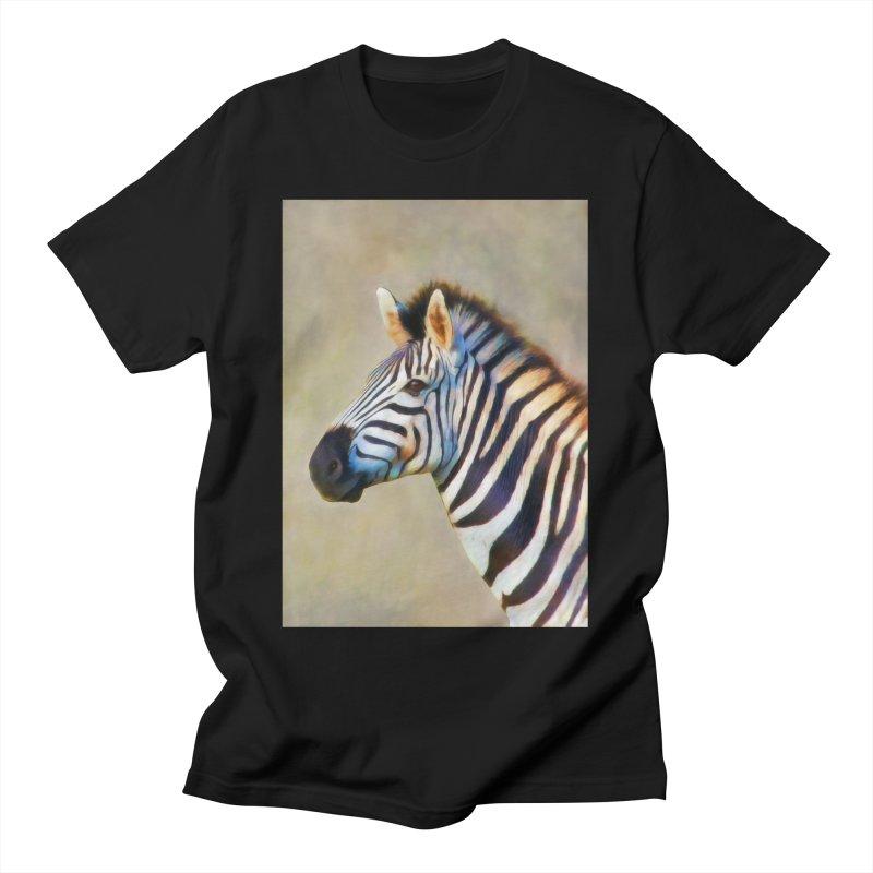 THE ZEBRA Men's T-Shirt by Eddie Christian's Artist Shop