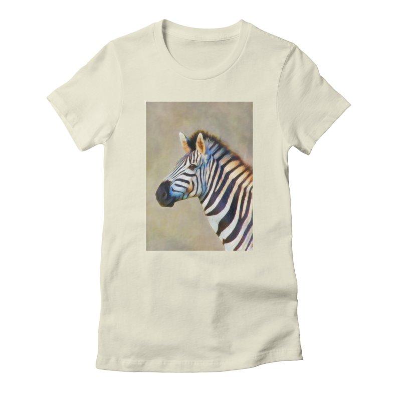 THE ZEBRA Women's T-Shirt by Eddie Christian's Artist Shop
