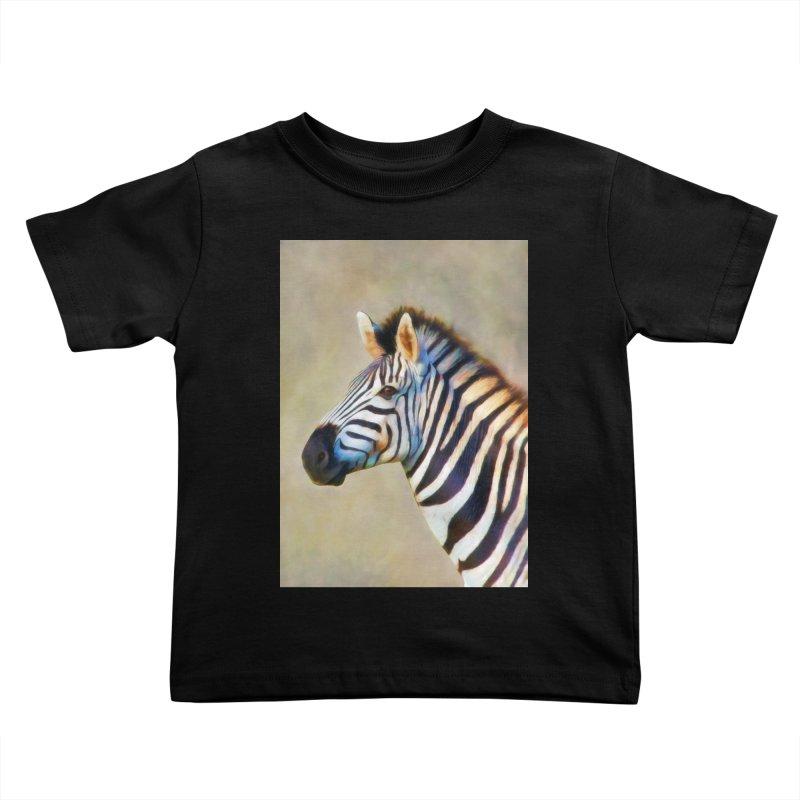 THE ZEBRA Kids Toddler T-Shirt by Eddie Christian's Artist Shop