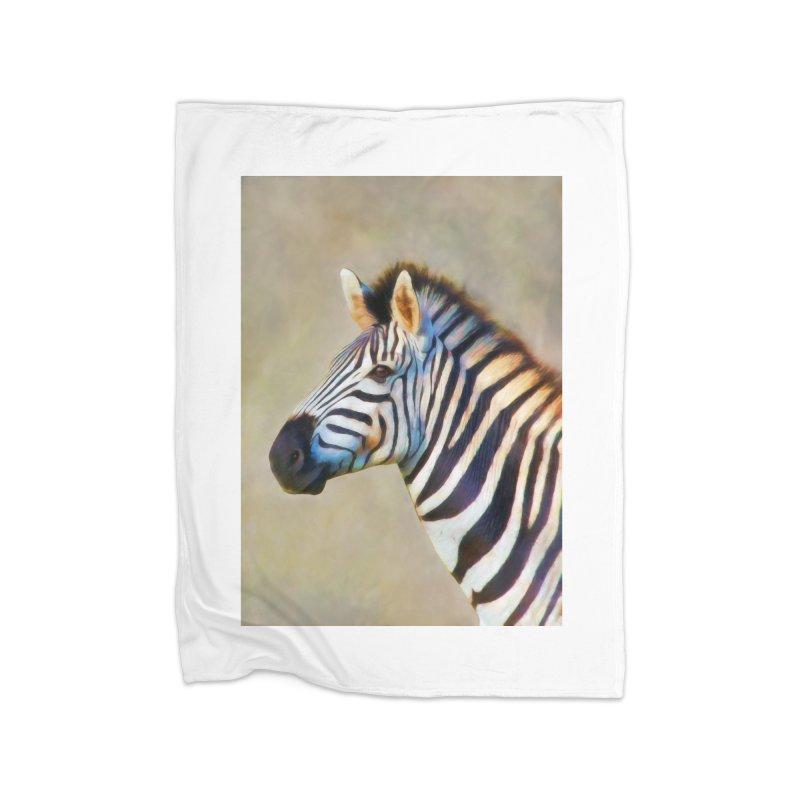THE ZEBRA Home Blanket by Eddie Christian's Artist Shop