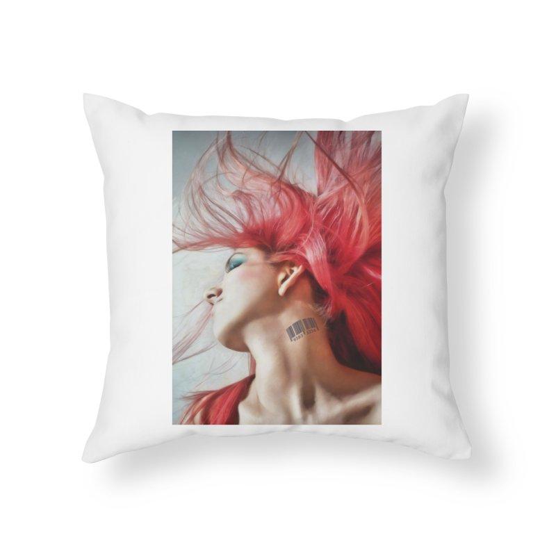 BARCODE Home Throw Pillow by Eddie Christian's Artist Shop