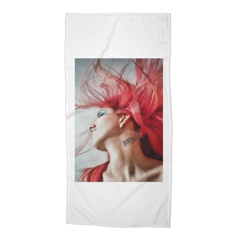 BARCODE Accessories Beach Towel by Eddie Christian's Artist Shop
