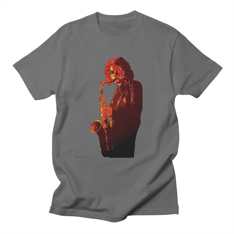 SaxMan Men's T-Shirt by Eddie Christian's Artist Shop