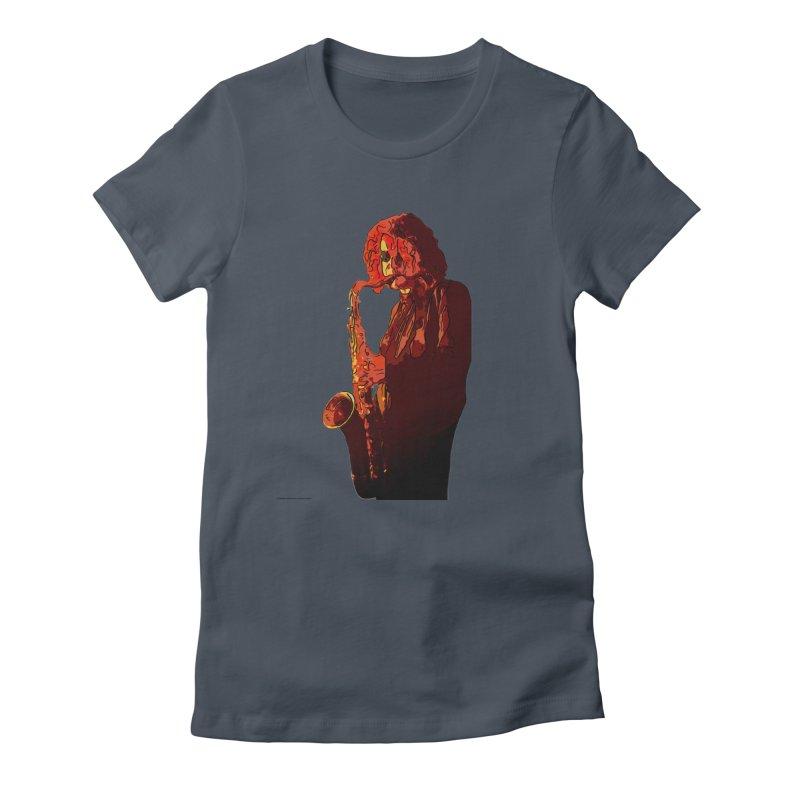 SaxMan Women's T-Shirt by Eddie Christian's Artist Shop