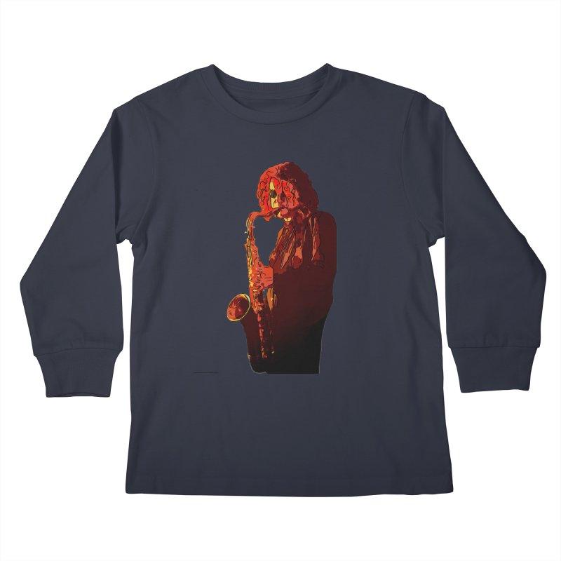 SaxMan Kids Longsleeve T-Shirt by Eddie Christian's Artist Shop