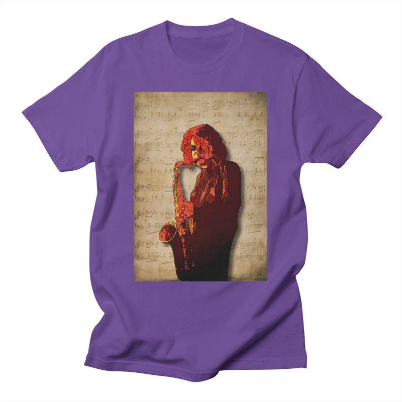 SaxMan Hits the Sheets Men's T-Shirt by Eddie Christian's Artist Shop