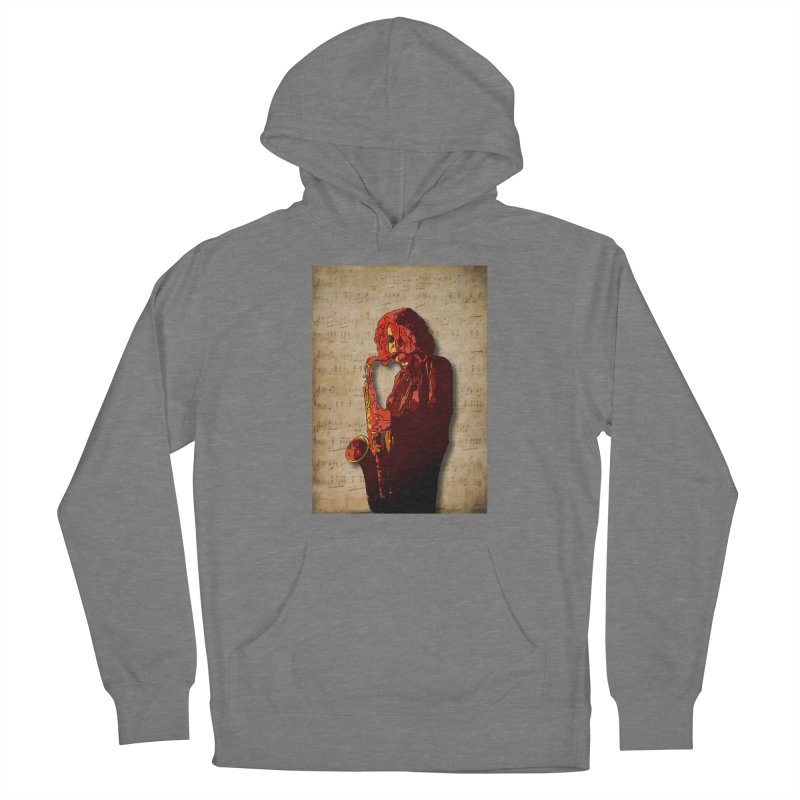 SaxMan Hits the Sheets Women's Pullover Hoody by Eddie Christian's Artist Shop