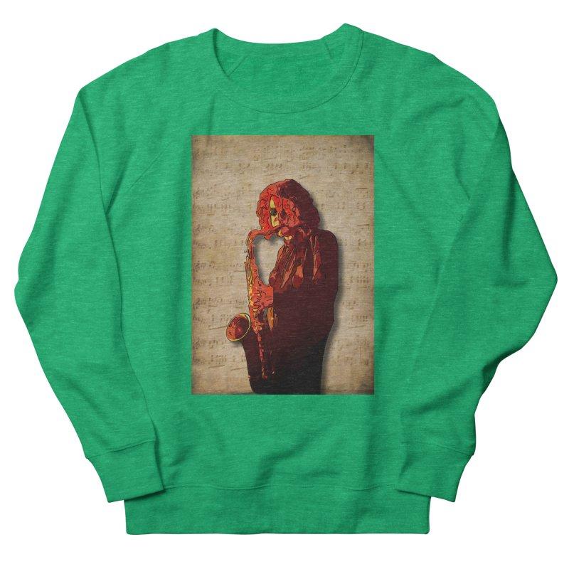 SaxMan Hits the Sheets Women's Sweatshirt by Eddie Christian's Artist Shop