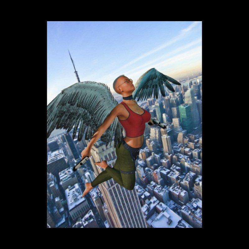 Guardian Angel Men's Longsleeve T-Shirt by Eddie Christian's Artist Shop