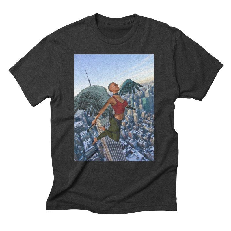 Guardian Angel Men's T-Shirt by Eddie Christian's Artist Shop