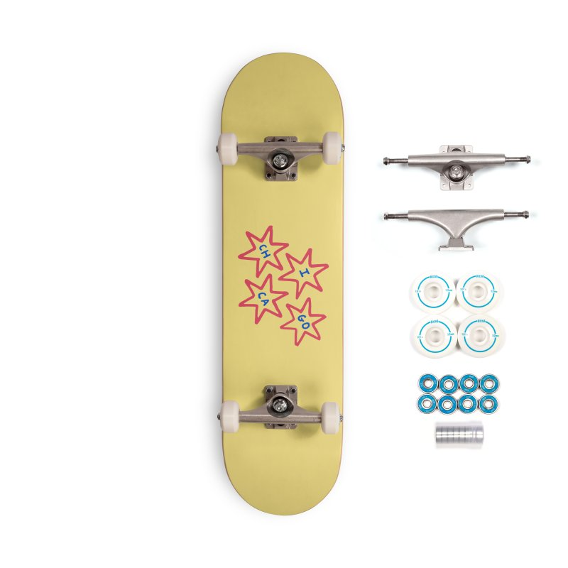 Chicago Stars Accessories Complete - Basic Skateboard by Eddie Fieg Graphic Design and Illustration