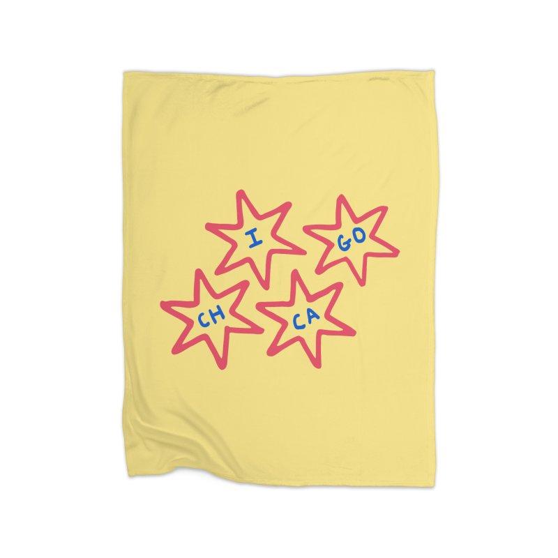 Chicago Stars Home Fleece Blanket Blanket by Eddie Fieg Graphic Design and Illustration