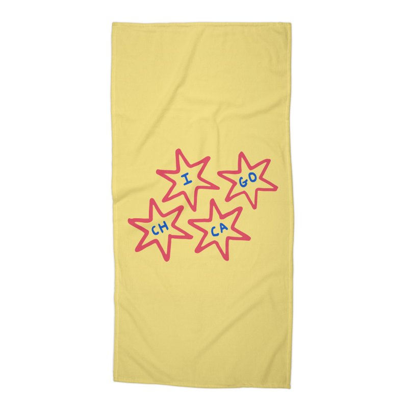 Chicago Stars Accessories Beach Towel by Eddie Fieg Graphic Design and Illustration