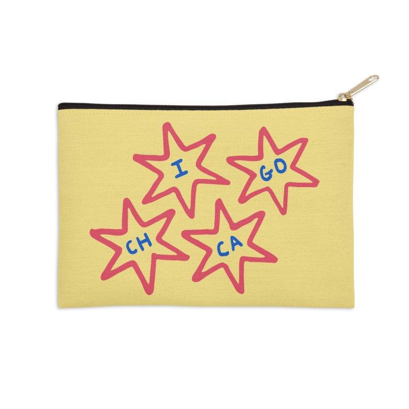 Chicago Stars Accessories Zip Pouch by Eddie Fieg Graphic Design and Illustration