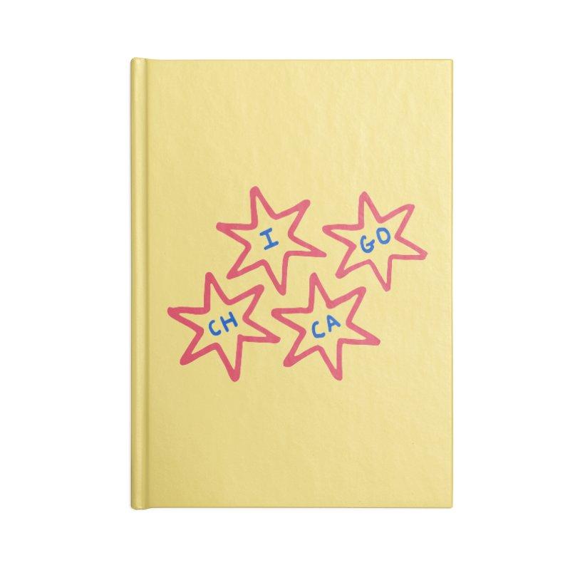 Chicago Stars Accessories Blank Journal Notebook by Eddie Fieg Graphic Design and Illustration