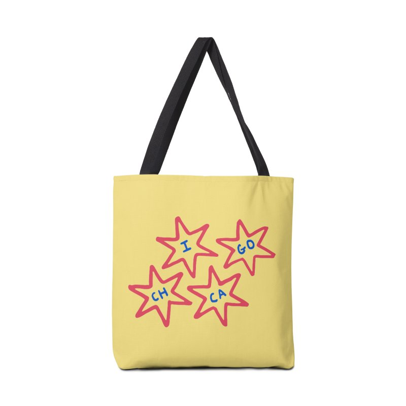 Chicago Stars Accessories Tote Bag Bag by Eddie Fieg Graphic Design and Illustration