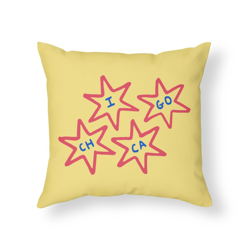 Chicago Stars Home Throw Pillow by Eddie Fieg Graphic Design and Illustration