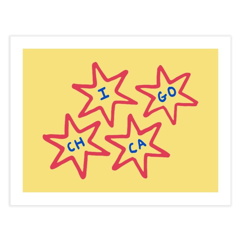 Chicago Stars Home Fine Art Print by Eddie Fieg Graphic Design and Illustration