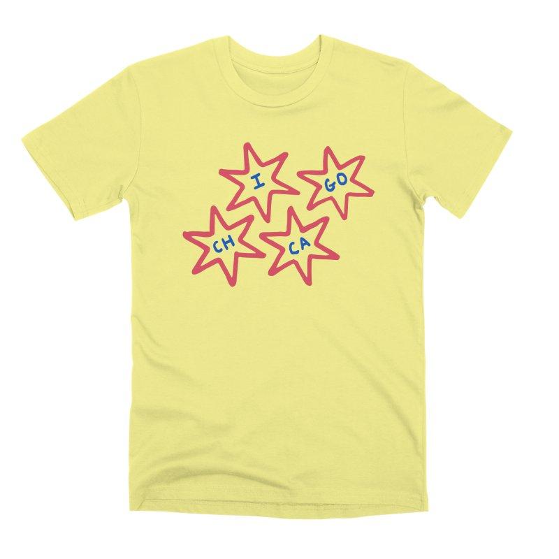 Chicago Stars Men's Premium T-Shirt by Eddie Fieg Graphic Design and Illustration