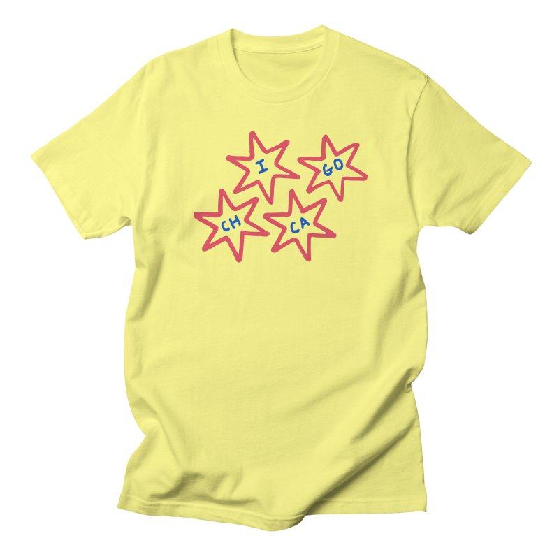 Chicago Stars Women's Regular Unisex T-Shirt by Eddie Fieg Graphic Design and Illustration