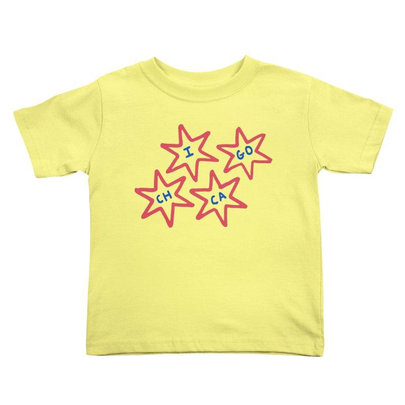 Chicago Stars Kids Toddler T-Shirt by Eddie Fieg Graphic Design and Illustration