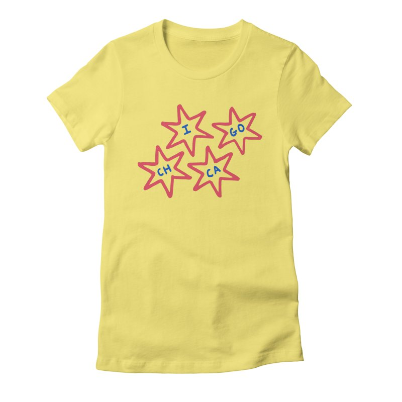 Chicago Stars Women's Fitted T-Shirt by Eddie Fieg Graphic Design and Illustration