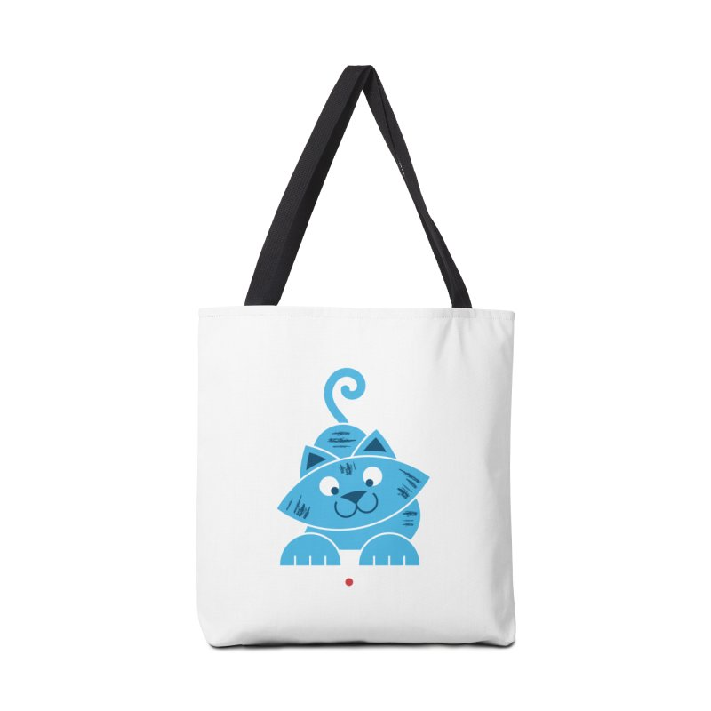 Kitty vs. Laser Pointer Accessories Tote Bag Bag by Eddie Fieg Graphic Design and Illustration