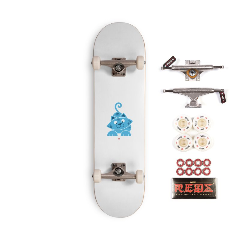 Kitty vs. Laser Pointer Accessories Complete - Pro Skateboard by Eddie Fieg Graphic Design and Illustration