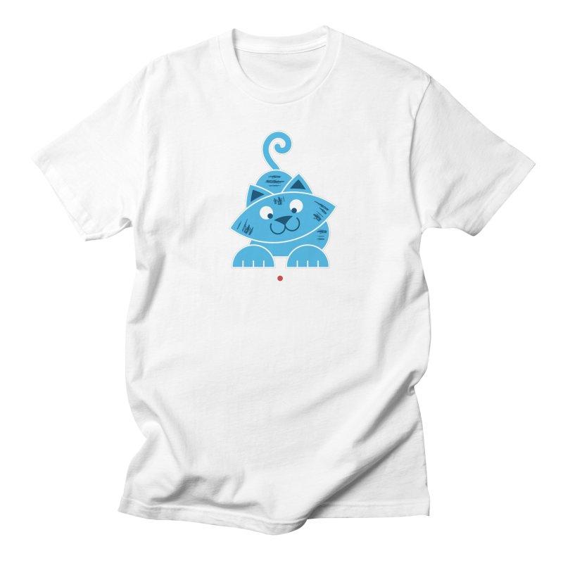 Kitty vs. Laser Pointer Women's Regular Unisex T-Shirt by Eddie Fieg Graphic Design and Illustration