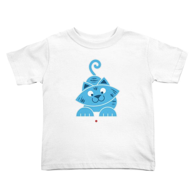 Kitty vs. Laser Pointer Kids Toddler T-Shirt by Eddie Fieg Graphic Design and Illustration