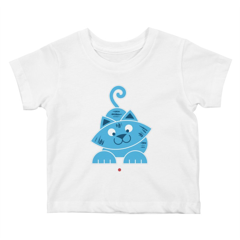 Kitty vs. Laser Pointer Kids Baby T-Shirt by Eddie Fieg Graphic Design and Illustration