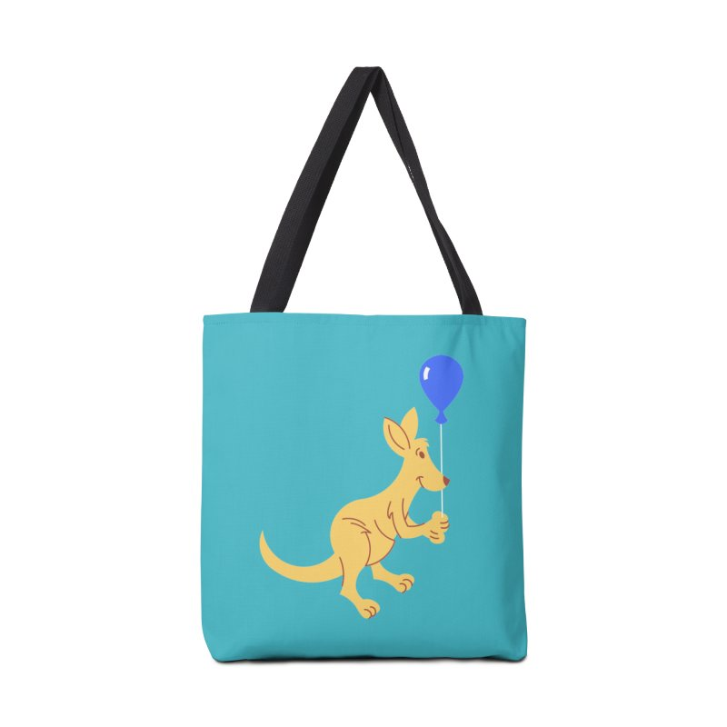 Kangaroo with a Balloon Accessories Tote Bag Bag by Eddie Fieg Graphic Design and Illustration