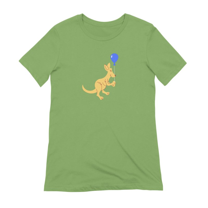 Kangaroo with a Balloon Women's Extra Soft T-Shirt by Eddie Fieg Graphic Design and Illustration